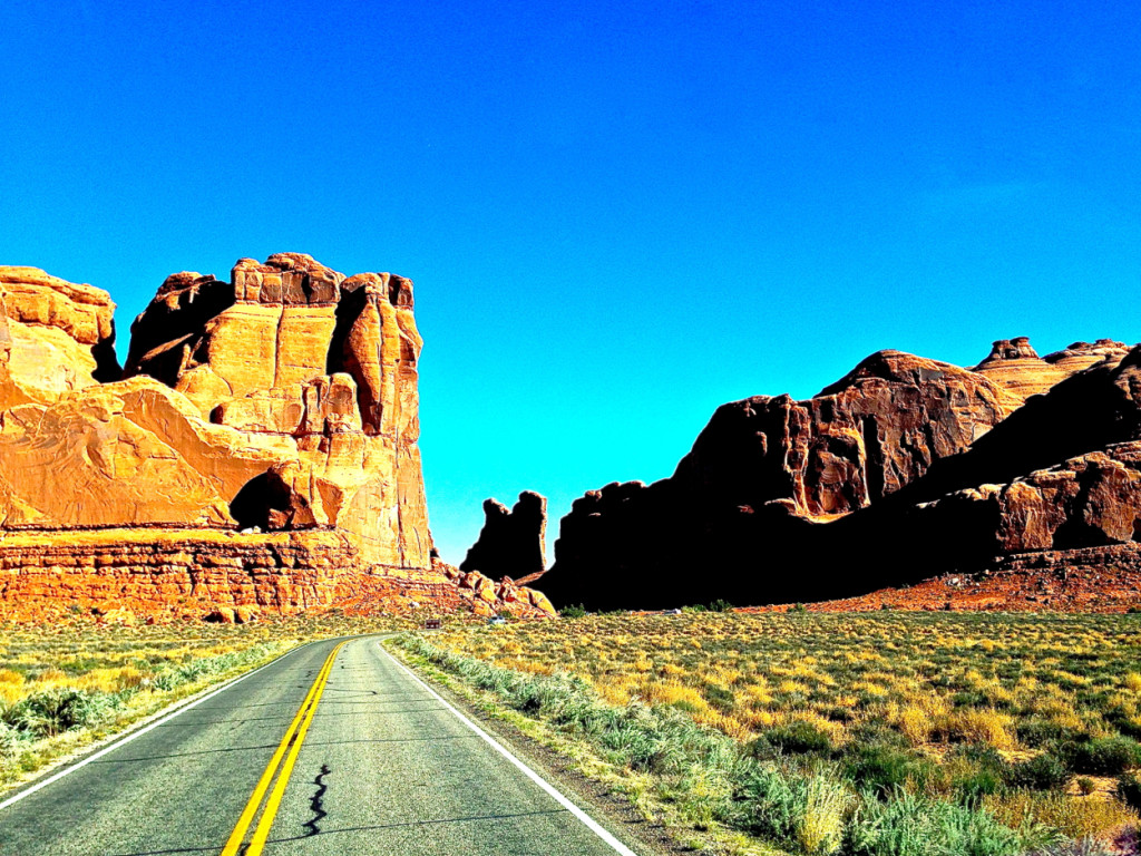 Road to Arches Moab Utah